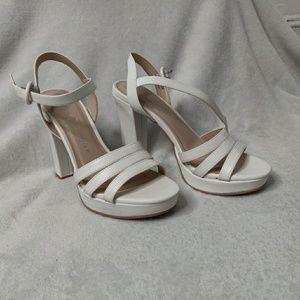 Chinese Laundry White Heels